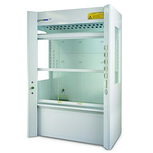 Sorbonne Couleur Blanc Distillation M1 - 2 guillotines - L1265 x p982 x H2500 mm - H plan de travail: 560 mm