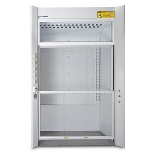 Sorbonne Couleur Blanc Walk in - en acier M0 2 guillotines - L1179 x P1070 x H2500 mm