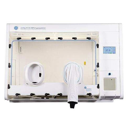 Station hypoxie H135 - Panneau avant amovible, manchons et HEPA - Don Whitley