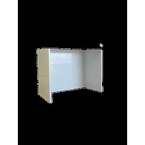Support 3 côtés en PVC pour hotte murale, L1500 x l750 x H800 mm