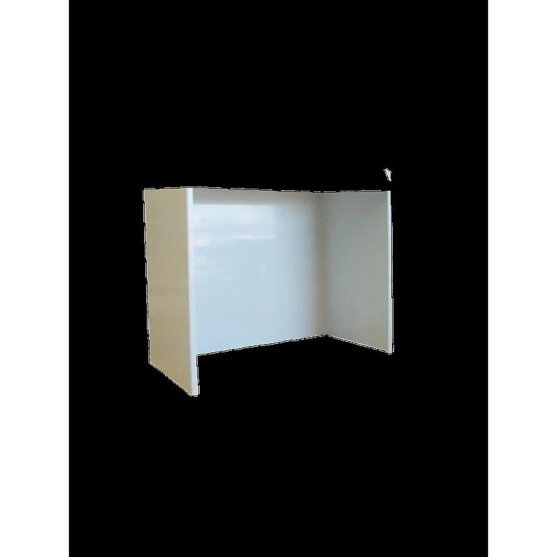 Support 3 côtés en PVC pour hotte murale, L900 x l900 x H800 mm