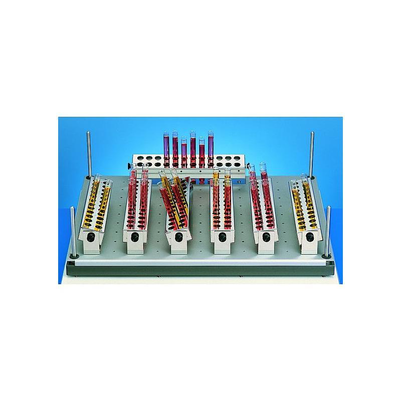 Support inox pour tubes à essais