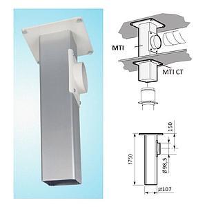 Support plafonnier pour Ø 100mm - L=750mm - Fumex