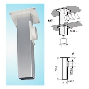 Support plafonnier pour Ø 50mm ou Ø 75mm - L=250mm - Fumex