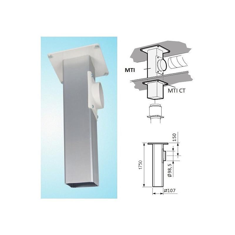 Support plafonnier pour Ø 50mm ou Ø 75mm - L=500mm - Fumex