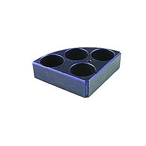 Support plaque chauffante pour 4 tubes Ø28mm - DLAB