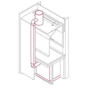 Système d'aspiration des meubles avec raccord à l'aspiration de la sorbonne - Asem