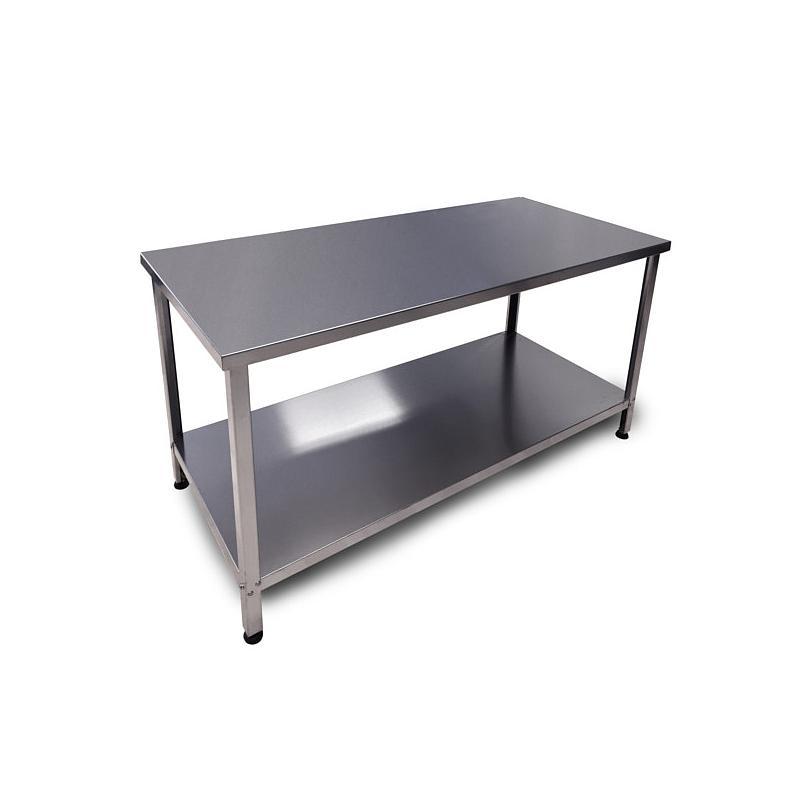 Table de laboratoire Inox démontable - Avec plateau - 1400 x 700 cm - Bano