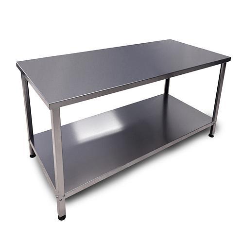 Table de laboratoire Inox démontable - Avec plateau - 1600 x 700 cm - Bano