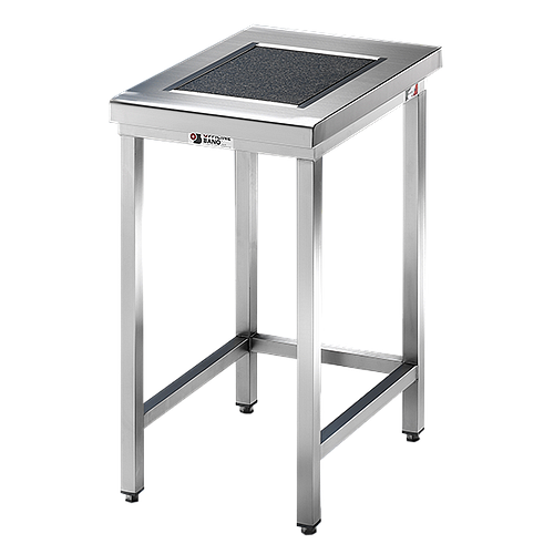 Table de pesée anti-vibrations inox soudée - 600 x 700 mm - Bano