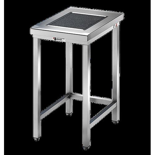Table de pesée anti-vibrations inox soudée avec dosseret - 600 x 700 mm - Bano