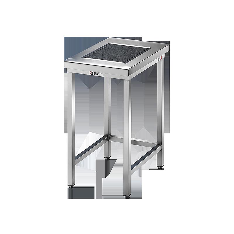 Table de pesée anti-vibrations inox soudée avec dosseret - 600 x 800 mm - Bano