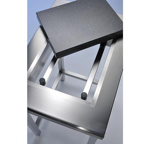 Table de pesée anti-vibrations inox soudée avec dosseret - 900 x 700 mm - Bano