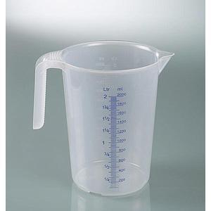 Tasse à mesurer industrielle - avec poignée - empilable - 2000 ml - Bürkle