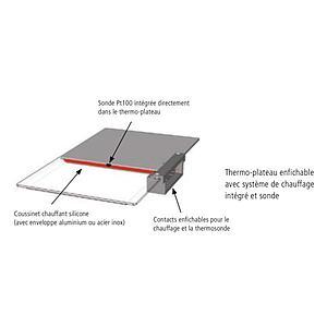 Thermo-plateau - Acier inox - Pour matériaux corrosifs - Pour VO400 - Memmert