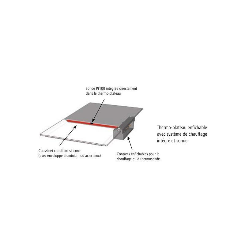Thermo-plateau supplémentaire - Aluminium éloxydé - Pour VO500 - Memmert