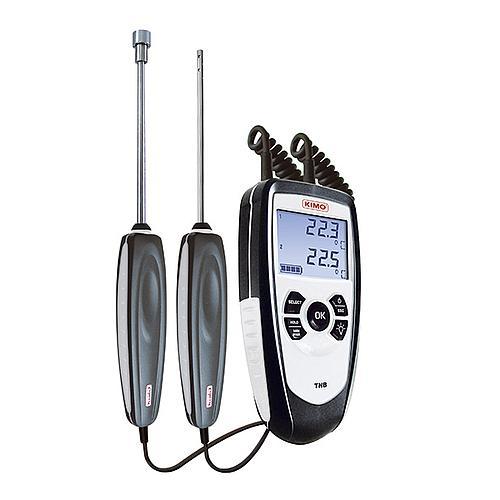 Thermomètre à sondes interchangeables CTN - 2 canaux - KIMO