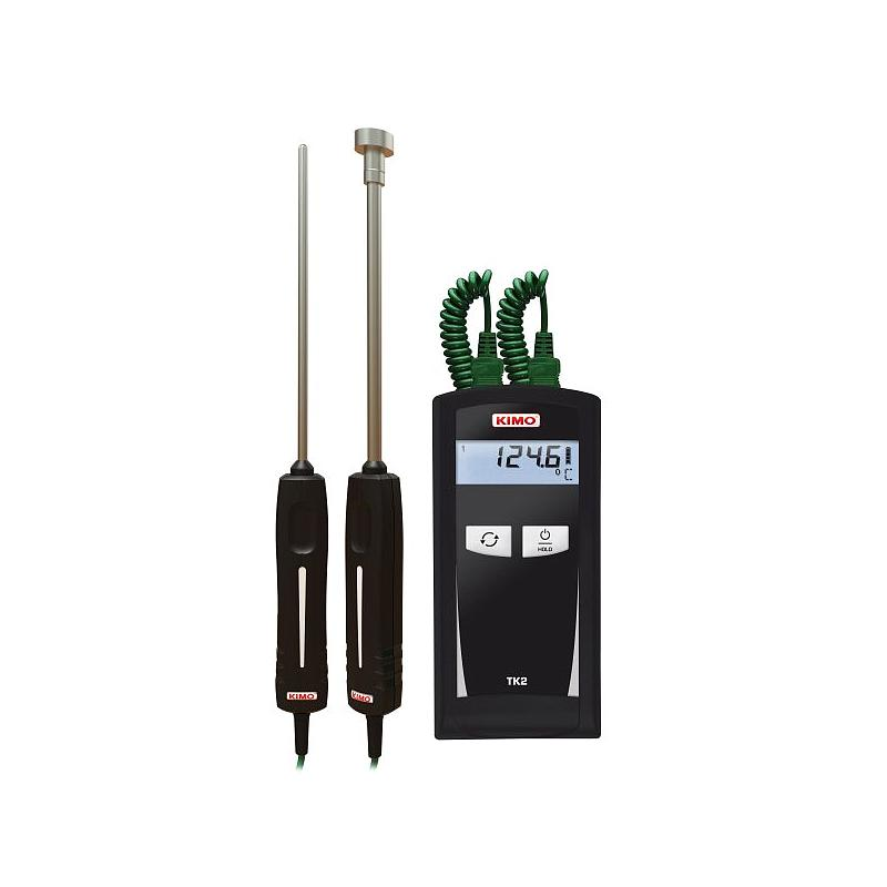 Thermomètre à sondes interchangeables thermocouple K - 2 canaux - TK2 - KIMO