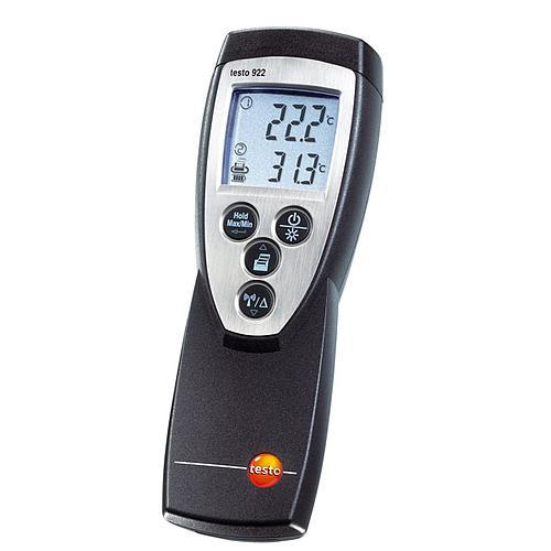 Thermomètre différentiel 2 canaux à sondes radio et filaires 922 - TESTO