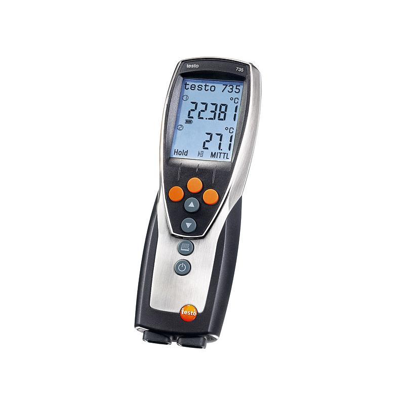 Thermomètre différentiel 3 canaux à sondes radio et filaires 735-1 - TESTO