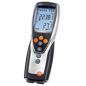 Thermomètre différentiel 3 canaux avec mémoire et interface USB 735-2 - TESTO