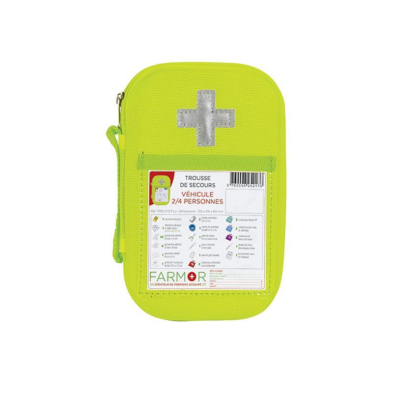 Trousse de secours EVA jaune fluo VEHICULE 2/4 Personnes
