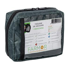 Trousse de secours individuelle en tissu imperméable vert