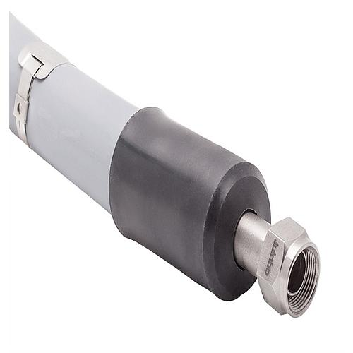 Tuyau métallique 0.5 m - Simple isolation (-50 à +200°C)