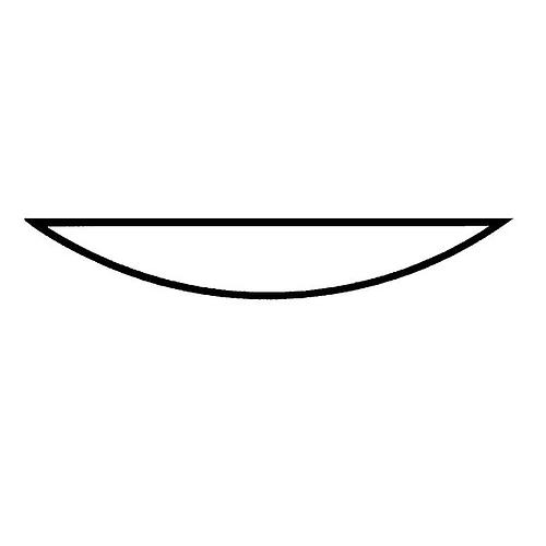Verre de montre bord rodé  Ø 250 mm - Lot de 10